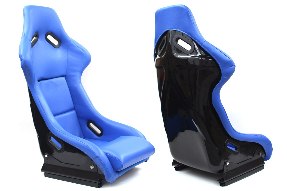 Fotel sportowy EVO Skóra Blue - GRUBYGARAGE - Sklep Tuningowy